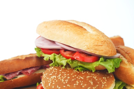 pile of sandwiches close Stock Photo - 15241541