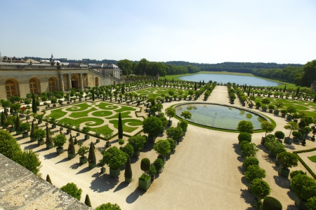 summer palace: Versailles gardens in France