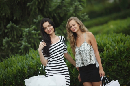 two people only: Two woman shopping