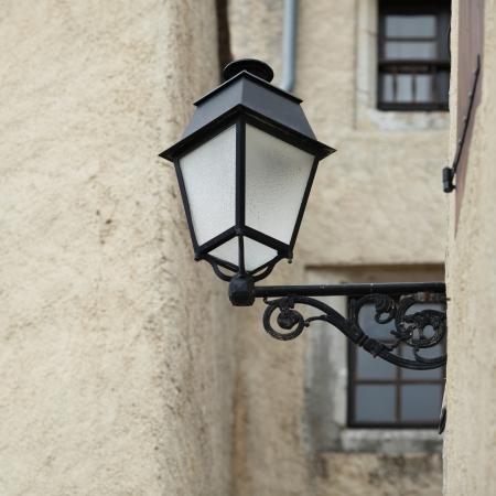 street lamps: lantern on wall Stock Photo