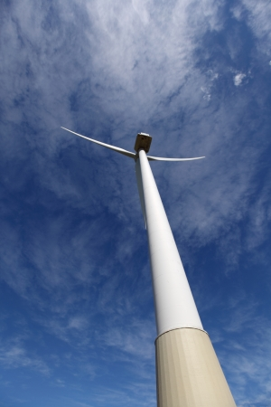 Wind turbines farm in spain photo