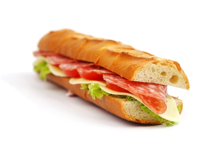 panino: Sandwich with mozzarella tomato and salad
