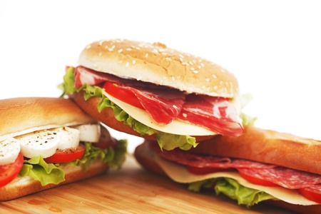 pile of sandwiches close Stock Photo - 16297135