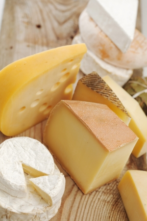 composition: Various types of cheese composition