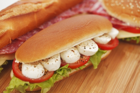 pile of sandwiches close Stock Photo - 16689863