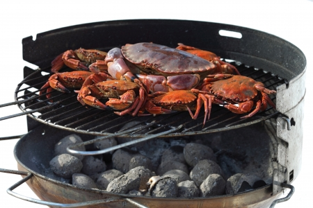 crab on charcoal grill Stock Photo - 17090163