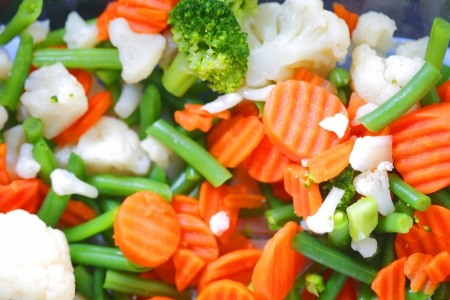 foodie: Mixed various vegetables background macro close-up Stock Photo