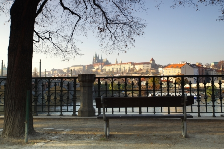 Embenkment in Prague photo