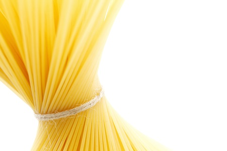 Dry spaghetti isolated on white background Stock Photo - 18639034