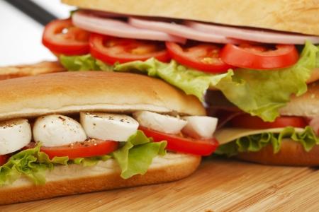 pile of sandwiches close photo