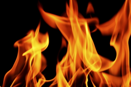 fire on black close up abstract background Stock Photo - 21037415