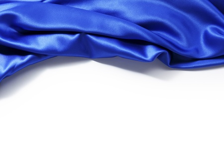 blue silk: blue silk background close up isolated Stock Photo