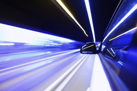 night drive on car photo