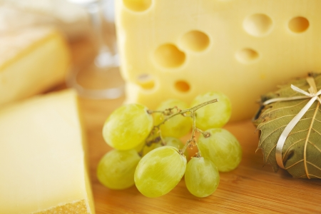 cheese and grape close up photo