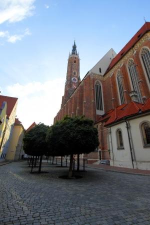landshut: Gothic style church Landshut Altstadt, Germany