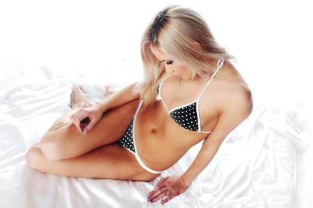 underwear woman close up portrait photo