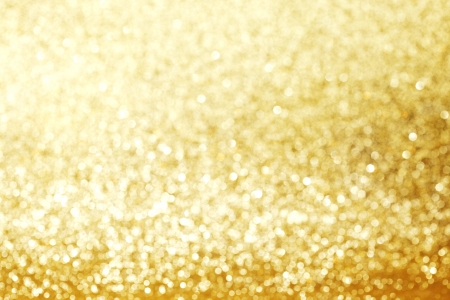 Gold Festive Christmas background with glitters photo