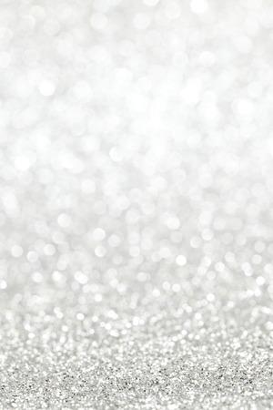 Silver shiny bright christmas bokeh background