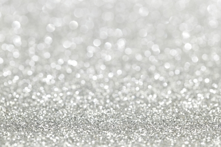 silver: Silver shiny bright christmas bokeh background