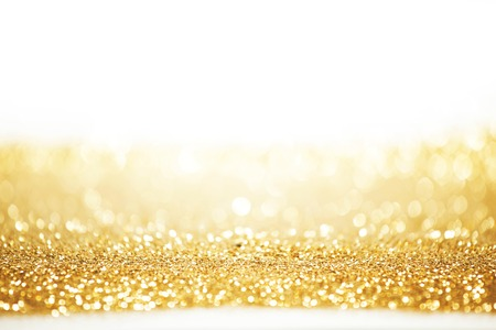 Abstract gold background with white copy space Imagens