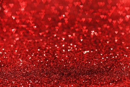 Red glitter , valentines day card photo