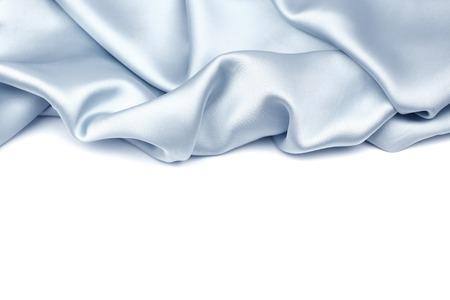 Seda azul sobre fondo blanco photo