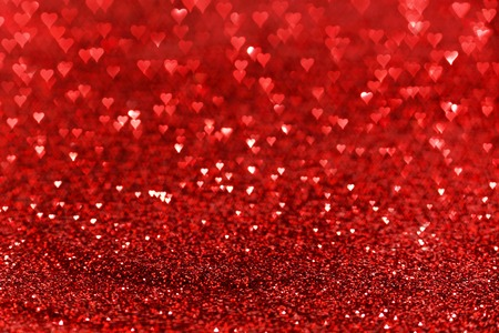 Red hearts bokeh valentines day love background photo