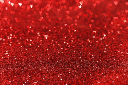 red background: Red heart bokeh background, Valentines day design