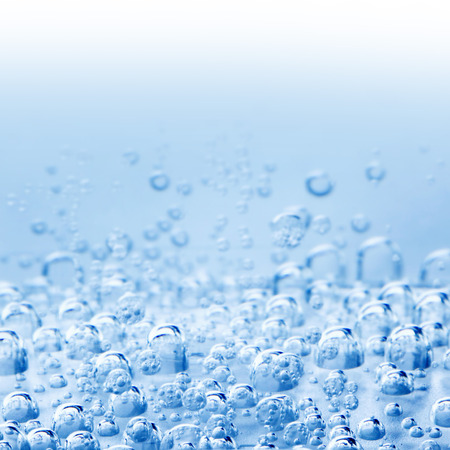 bubble background: Macro bubbles of water on blue background