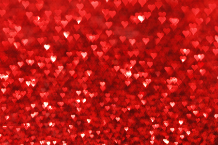 Red hearts bokeh valentines day love background Stock Photo