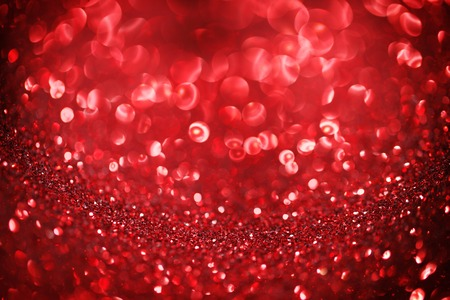 light red: Abstract red shiny glitter bokeh christmas background