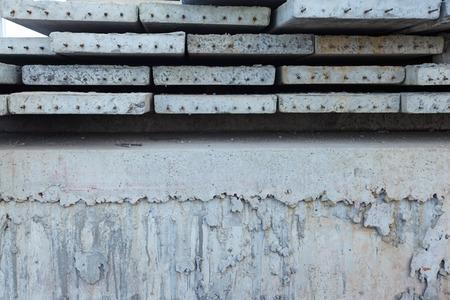 slabs: Stock concrete precast slabs close up
