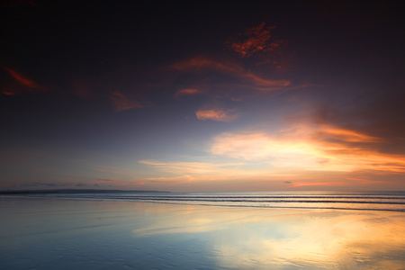 radiant: Radiant sea beach sunset on Bali Stock Photo