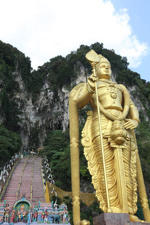 hindu god shiva: Statue of hindu god Muragan at Batu caves, Kuala Lumpur