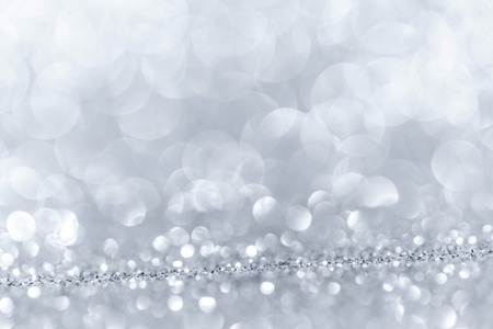 shiny: Abstract background with silver shiny glitter bokeh lights Stock Photo