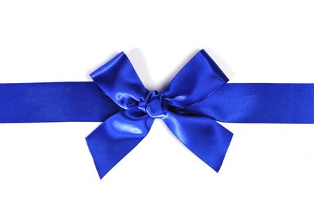 blue satin: Decorative blue satin bow isolated on white background