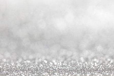 Zusammenfassung Silber Glitter Licht Bokeh Urlaub Partei Hintergrund Standard-Bild - 65652801