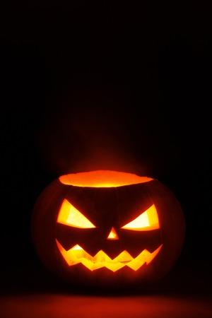 Halloween Pumpkin isolated on black background