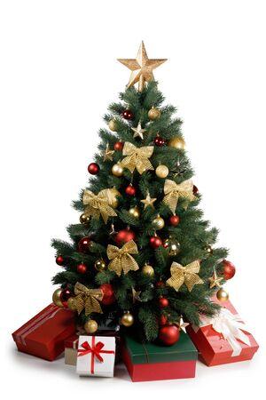 Decorative Christmas Tree isolated on white background