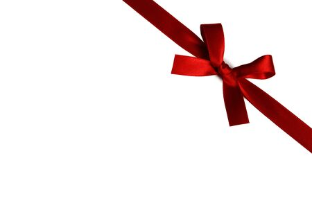 Red gift bow isolated on white background Stockfoto