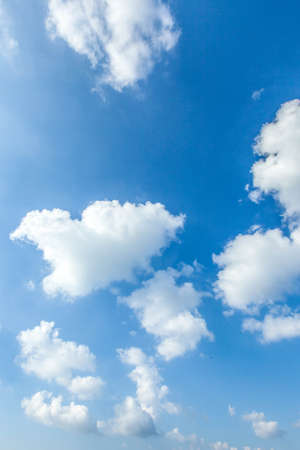 Blue sky with white clouds natural background Stock Photo