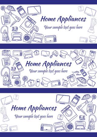 tehnology: Flat modern home electronics appliances tehnology icons concept.
