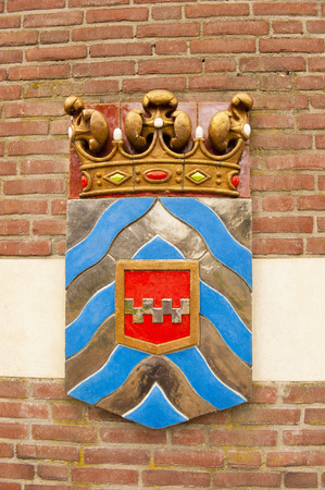 ijssel: Ancient shield of former polderdistrict Rhine and IJssel, the Netherlands