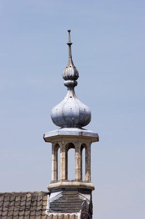 octogonal: Campanario octogonal de la iglesia Eben Haezer Zaltbommel los Pa�ses Bajos, tomada desde el lado