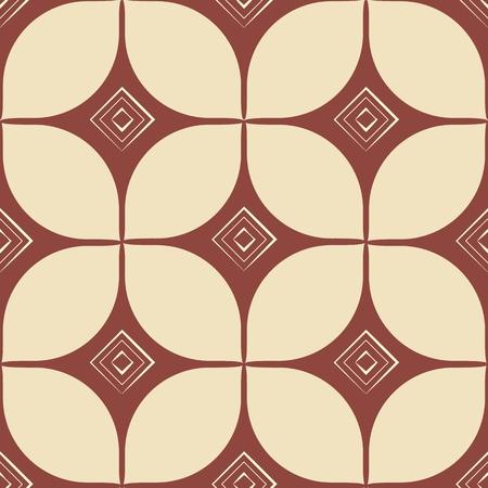 block print. geometric abstract seamless pattern. retro style. vintage vector illustration