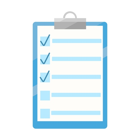 Writer notes icon. Notes illustration. To do list or planning icon concept. Flat vector illustration. Illustration