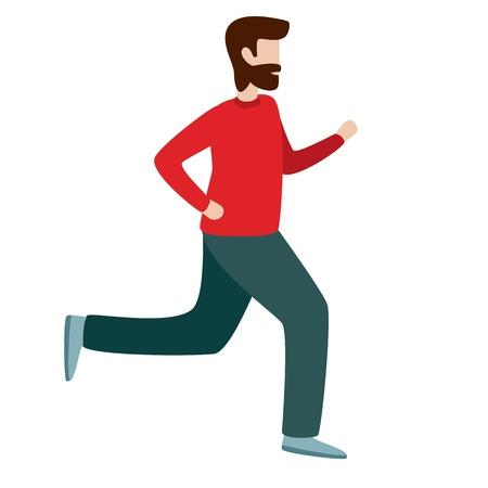 Man running. Flat style vector character illustration isolated on white background 일러스트