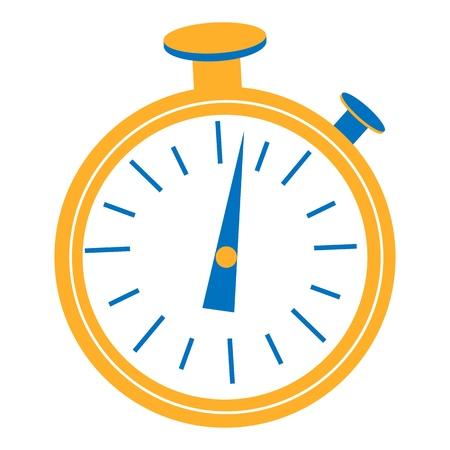 Clock Timer graphic design. Start, finish. Time management. Stopwatch