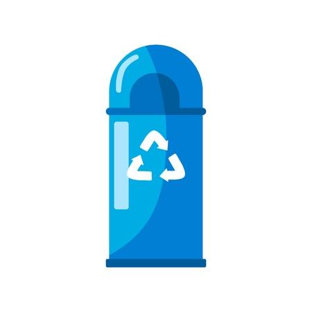 Trash icon. Arrows recycle eco symbol. Flat vector design illustration  イラスト・ベクター素材