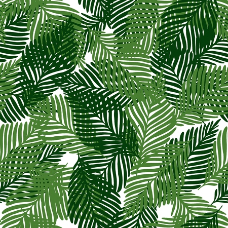 Cute floral seamless pattern tropical leaves, Fashion, interior, wrapping consept. Vector illustration